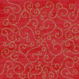Red Christmas Scrolls background Stock Images