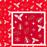 Red Christmas seamless. Royalty Free Stock Photography