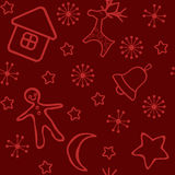 Red Christmas seamless. Royalty Free Stock Image