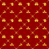 Red Christmas seamless background Stock Photo