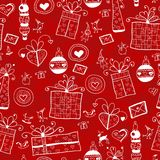 Red Christmas Seamless Pattern Royalty Free Stock Images