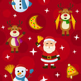 Red Christmas Seamless Pattern vector illustration