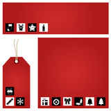 Red christmas set Stock Photography