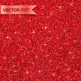 Red Christmas shining glitter seamless pattern Stock Photos
