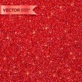 Red Christmas shining glitter seamless pattern Stock Photos