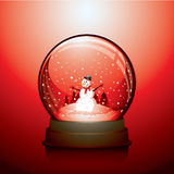 Red Christmas snow globe Royalty Free Stock Photos