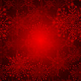 Red Christmas Snowflake Background Royalty Free Stock Photo