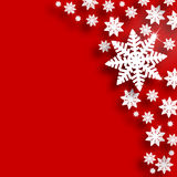 Red Christmas snowflake background Royalty Free Stock Photos