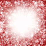 Red christmas snowflake background Stock Photos