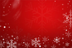 Red Christmas Snowflake Stock Photography