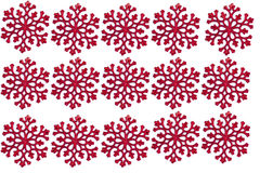 Red christmas snowflake on white background Royalty Free Stock Photography