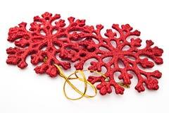 Red Christmas snowflakes Royalty Free Stock Photos