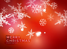Red Christmas snowflakes abstract background Royalty Free Stock Image