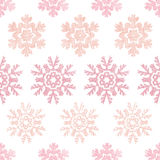 Red Christmas Snowflakes Geometric Textile Texture Royalty Free Stock Photography