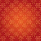 Red Christmas snowflakes pattern Royalty Free Stock Photos