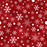 Red christmas snowflakes seamless pattern Royalty Free Stock Photos