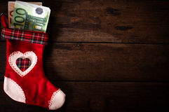 Red Christmas sock Stock Images