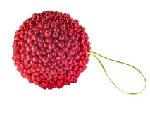 Red Christmas Sphere Royalty Free Stock Photo