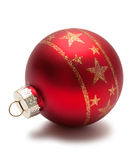 Red christmas sphere Stock Photos