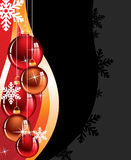 Red Christmas spheres Royalty Free Stock Images