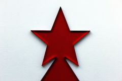 Red Christmas Star Stock Photo