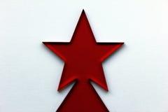 Red Christmas Star Stock Photo