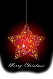 Red Christmas star hanging Stock Images