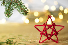 Red Christmas Star Royalty Free Stock Photos
