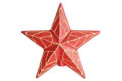 Red christmas star royalty free stock images