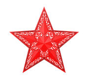 Red Christmas Star Ornament Stock Photography