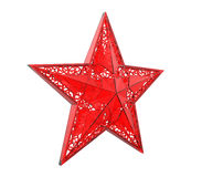 Red Christmas Star Ornament Royalty Free Stock Photos