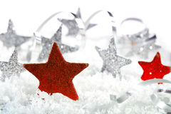 Red Christmas star Stock Photography