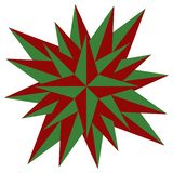 Red christmas star vector illustration - Holdiay decoration vector illustration