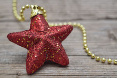 Red Christmas star Royalty Free Stock Image