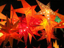 Red Christmas Stars Stock Photo
