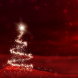 Red Christmas. Stars shaped as a christmas tree Stock Photography