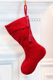 Red Christmas stocking Royalty Free Stock Photography