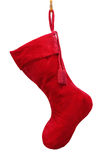 Red Christmas stocking Royalty Free Stock Images