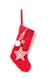 Red Christmas stocking Stock Image