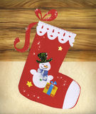 Red Christmas stocking royalty free stock image