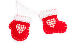 Red christmas stocking Stock Photography