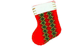 Red christmas stocking Royalty Free Stock Photos