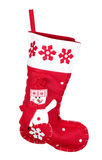 Red christmas stocking for presents Royalty Free Stock Photo