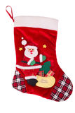 Red Christmas stocking Stock Images