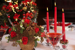 Red christmas table 3 Royalty Free Stock Image