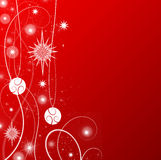 Red Christmas Theme Stock Image
