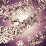 Red christmas tinsel Royalty Free Stock Images