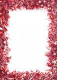 Red Christmas tinsel garland Stock Photos
