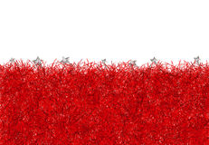 Red christmas tinsel texture background Stock Image