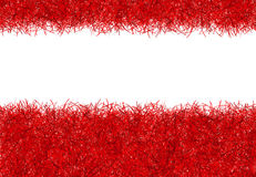 Red christmas tinsel texture background Royalty Free Stock Image